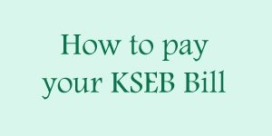 kseb online bill payment methods