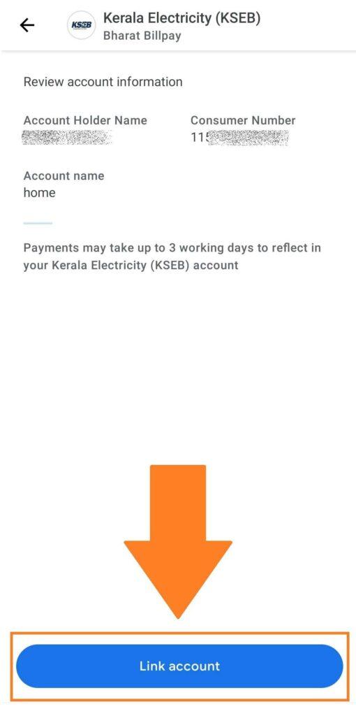 Link KSEB Consumer Number Last
